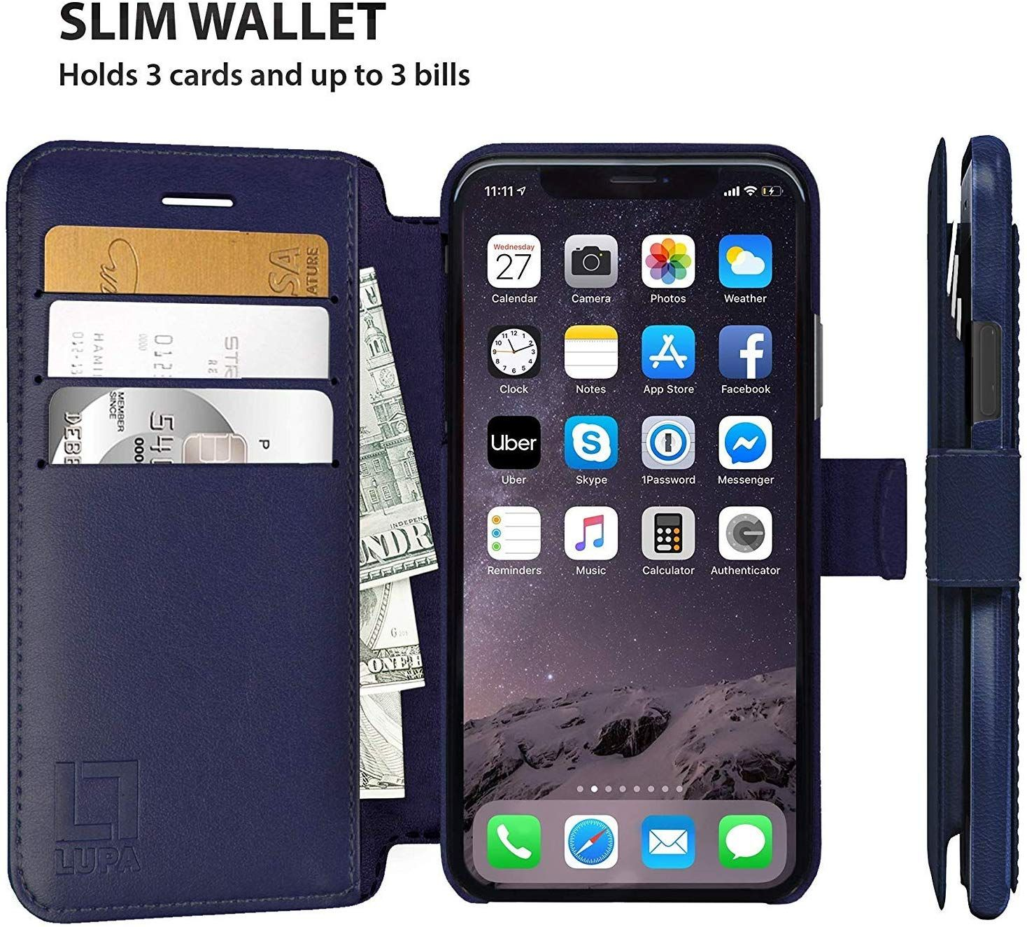 Lupa iphone xr wallet case durable and slim